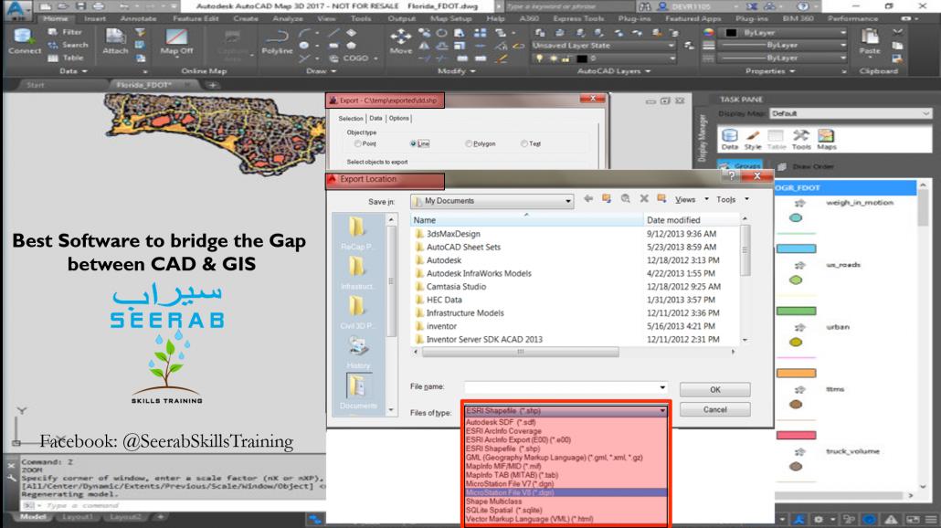 Best Software to Bridge the Gap between CAD & GIS • Seerab